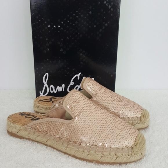 52e9440bc Sam Edelman Shoes | New Kerry Rose Gold Sequins Mule | Poshmark